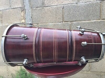 Dholki Sheesham Wood Drum Dholak Percussion 14 Keys Bhangra Dholak