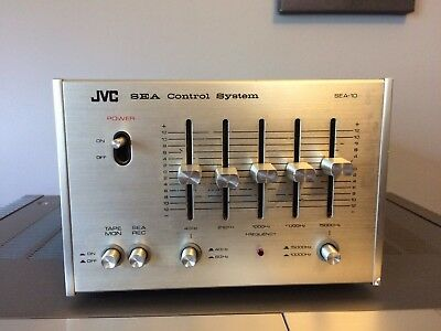 Vintage JVC SEA-10 Silver-Face Equalizer - Great Condition, Tested and Working