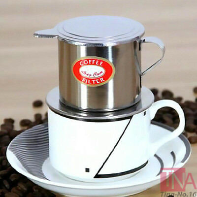 Stainless Steel Vietnamese Coffee Drip Filter Maker Infuser Set