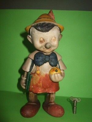 Les Jouets Old 1940S Walt Disneys Pinocchio Clockwork Toy