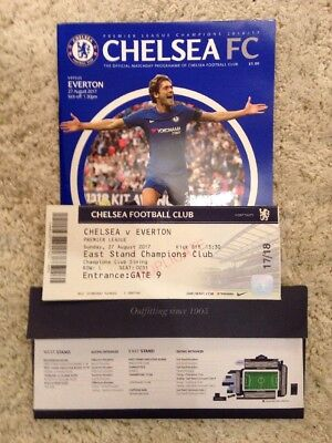 Chelsea v Everton 2017 Official Matchday Ticket & programme