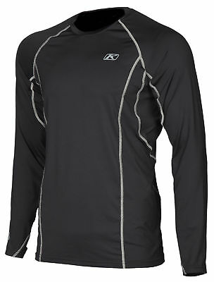 Klim Mens Black Aggressor 1.0 Warming Long Sleeve Snowmobile Base Layer Shirt