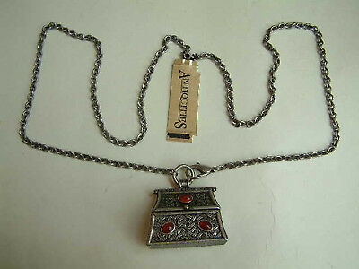 Necklace - Celtic Style with Prayer Box Medallion by Antiquities NEW