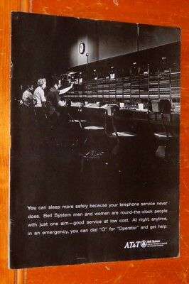Cool 1968 At&t Telephone Operators Retro Ad - Vintage American 60S Phone