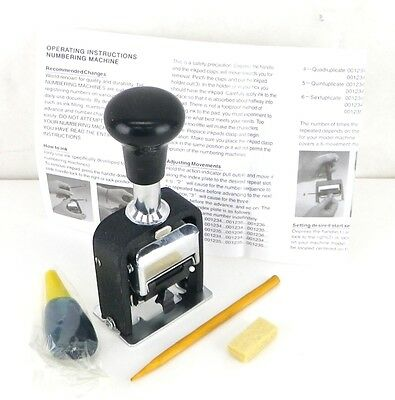 IMPORTED Automatic Mechanical Numbering Machine 7 Digit Arial 7 Font CMA1195 F7*