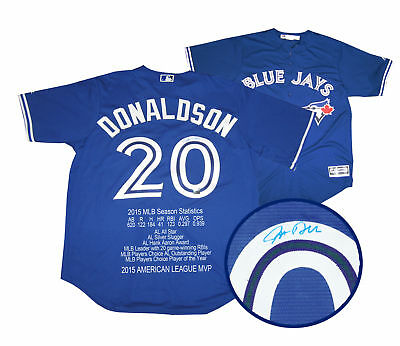 Josh Donaldson - Signed Jersey Game Model Blue With 2015 MVP Embroidery - L/E 21