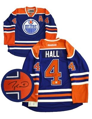 Taylor Hall - Signed Jersey Oilers Replica Blue