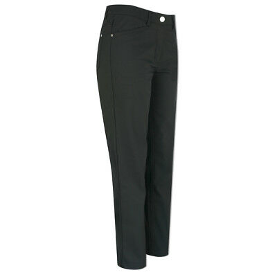 Green Lamb Tailored Windproof Trouser with Straight Fit in Black