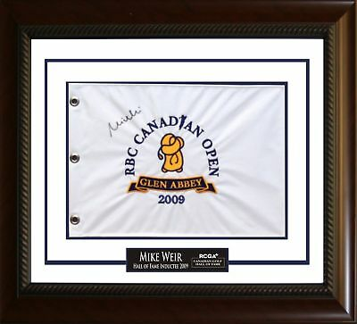 Mike Weir - Signed Flag 2009 Golf Hall of Fame