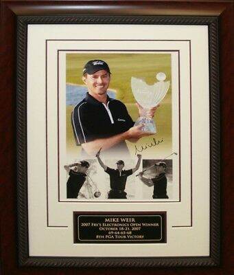 Mike Weir - Signed 11x17 Framed Frys Electronics Open Victory