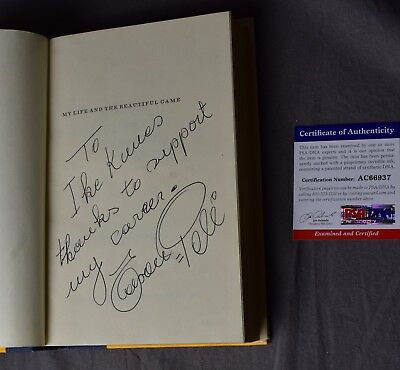 1977 Signed First Edition Pele Autobiography My Life Book Football Soccer PSA