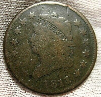1811/0 Large Cent Scarce Date Affordable Circulated
