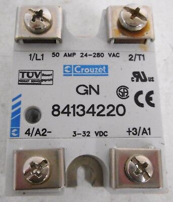 Crouzet 84134220 Solid State Relay 50A 24-280VAC