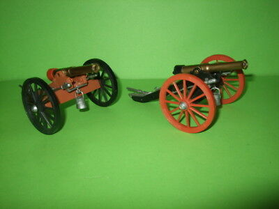 Britains Two Acw Plastic Cannons Ex Shop Stock