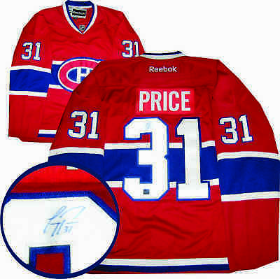 Carey Price - Signed Jersey Replica Canadiens Red