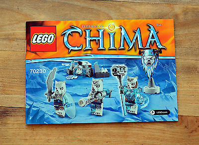 INSTRUCTION Manual ONLY - LEGO Chima 70230 Ice Bear Tribe Pack - NEW - 2015