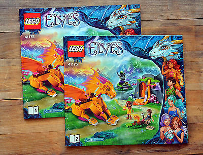 INSTRUCTION Manuals ONLY - LEGO Elves 41175 Fire Dragon's Lava Cave - NEW