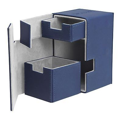 Ultimate Guard-80/100 Card Flip N Tray Deck Case-Xenoskin Blue