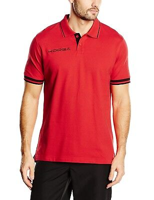 (Red, Medium) - Kooga Contrast Cuff Polo T-Shirt. Free Shipping