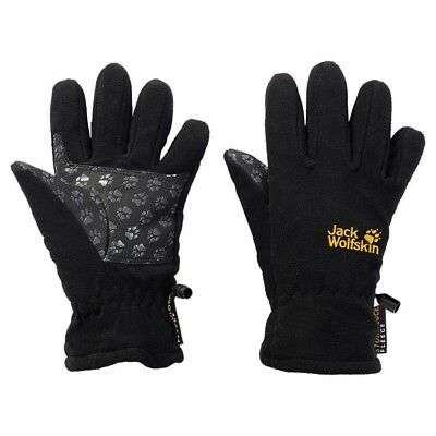 (128 (7-8 Years Old), Black) - Jack Wolfskin Stormlock Glove Children's Gloves