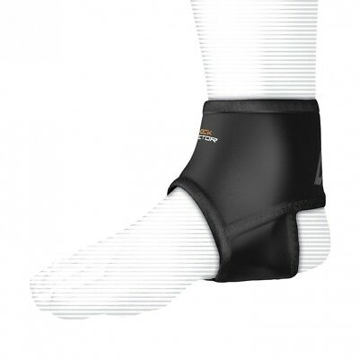 (Large, Black) - Shock Doctor Ankle Support Sleeve with Compression Fit