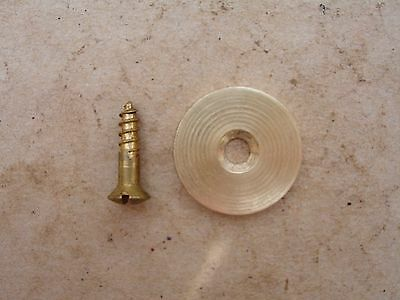 Lee Enfield No1 SMLE Brass Butt Disc & Screw: Reproduction