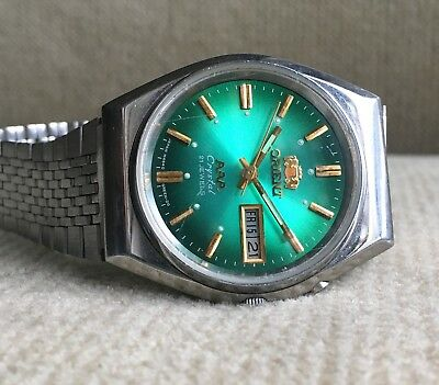 ORIENT Crystal - LH 469712 - Automatic Day/Date Herrenuhr 37 mm Japan ca. 1978