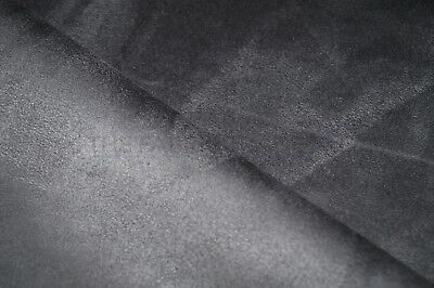 Pewter Faux Suede Microfiber Upholstery Curtain Car Interior Headline Fabric