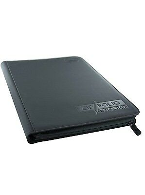 Ultimate Guard 9-Pocket XenoSkin Zipfolio, Black