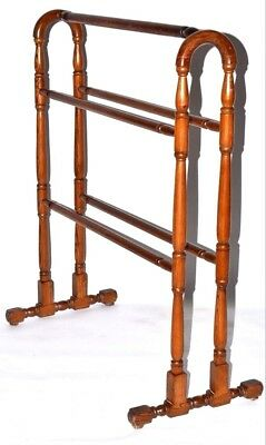 Antique Victorian Towel Rail Stand Clothes Horse - FREE Shipping [PL2222]