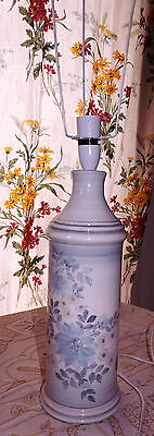 Jersey Pottery Tall Retro Table Lamp hand painted with original sticker