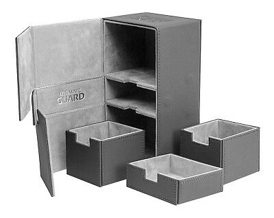 Ultimate Guard-200 Card Twin Flip N Tray Deck Case-Xenoskin Grey