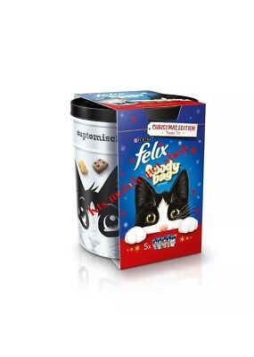 Felix Christmas Tin With 5 Cat Goodie Bags Inside