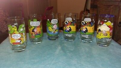 McDonalds Peanuts Camp Snoopy Collection Glasses Complete Set of 6