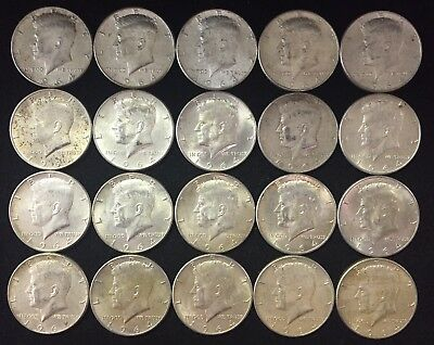 Lot of 20 1964 Kennedy Half Dollars $10.00 Face 90% Silver