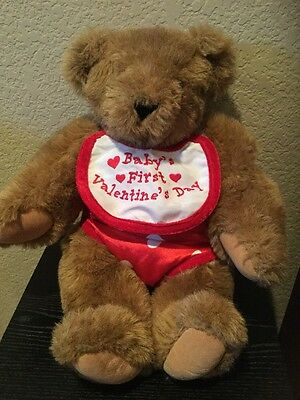 """Vermont Teddy Bear Love Bear Baby's First Valentines Day 17"""" tall"""