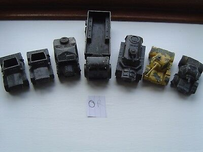 Dinky Toys Army Military Lorry  Tanks Repaints Joblot Job Lot Vintage Antique Or