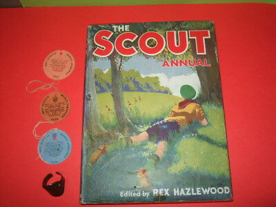 Boy Scout 1958 Scout Annual Admission Badges And Ring