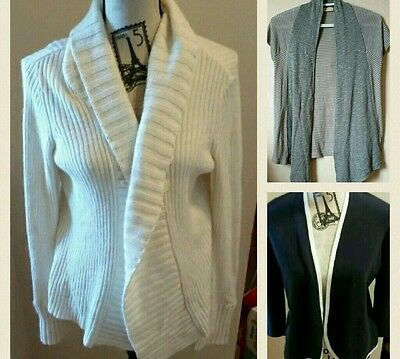 Lot of 3 Cardigans Ann Taylor LOFT Long Open Front Sweaters  pinsandneedles t S