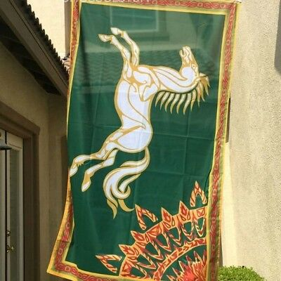 """ROHAN"" Lord of the Rings Flag/Banner-Large 5' x 3' LOTR Fan Gear"