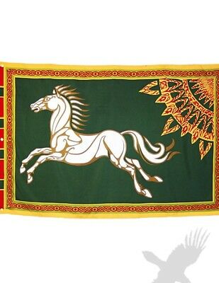 """""""ROHAN"""" Lord of the Rings Flag/Banner-Small 16"""" x 24"""" LOTR Fan Gear"""