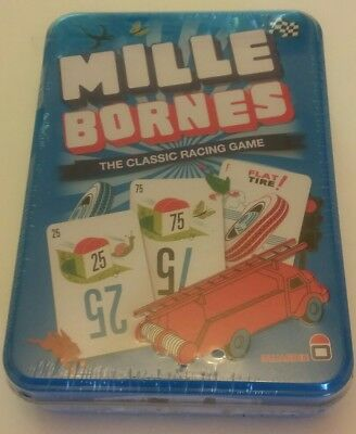 Mille Bornes Card Game in Tin, new with couple small punctures in shrink