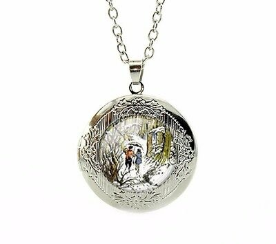 Chronicles of Narnia Necklace Locket C.S. Lewis The Lion, The Witch, Wardrobe
