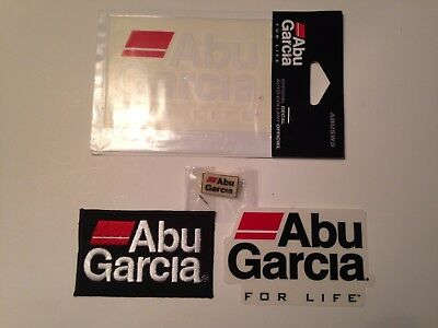 Abu Garcia Decal,Patch and Abu Garcia Pin