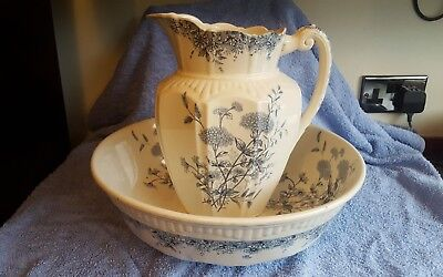 Beautiful Meadow Sweet Large Jug and Wash Bowl