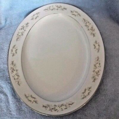 "International Silver Co. #326 Fine China Springtime 14"" Oval Platter"