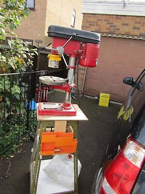 SEALEY Pillar BENCH  DRILL 240 VOLTS   WITH TIMBER STAND DIY  WORKSHOP CLEARANCE
