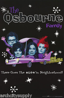 Lot Of 2 Posters: Tv : The Osbourne Family - Car  - Free Ship   #9065     Lp34 M