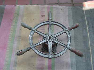 Rusty old  Yacht  Ship wheel Parts or Decor