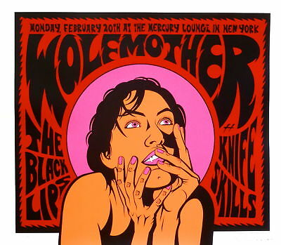 Wolfmother Poster w/ The Black Lips & Knife Skills 2006 Concert